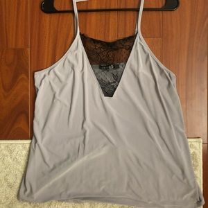 Lace silky top